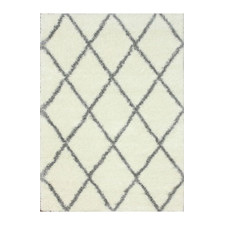 Wayfair- Gray White Shag Rug, $88-$280