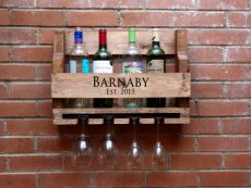 Etsy Personalized Wine Rack- $38