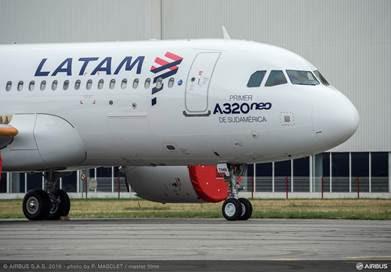 LATAM Airlines anuncia que primeiro A320neo da América do Sul vai operar voos domésticos no Brasil