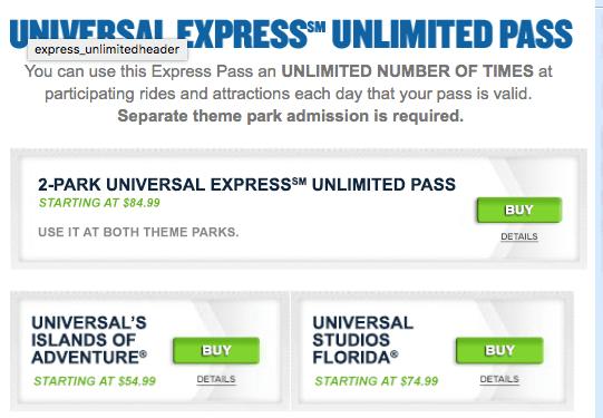 Universal Express pass em Orlando: o que é e como comprar?
