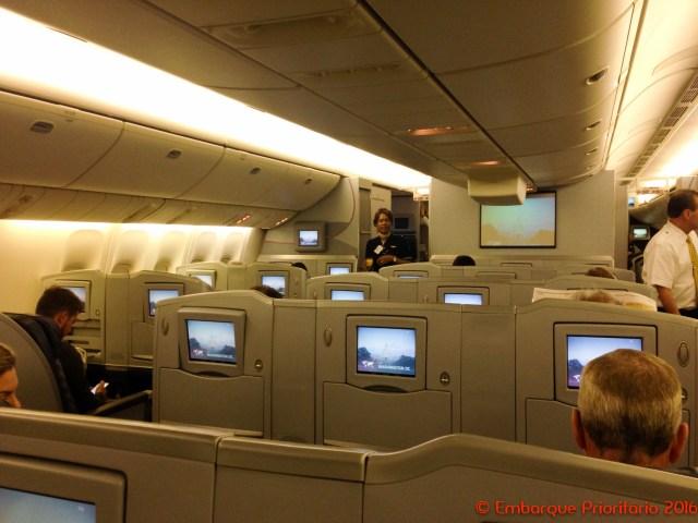 Classe executiva da American Airlines de Miami para São Paulo