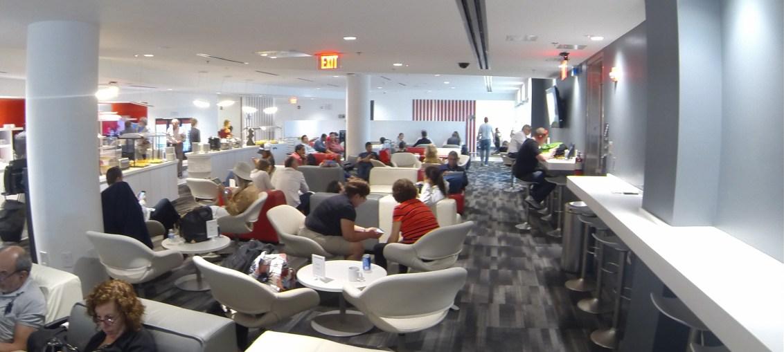Sala Vip da Avianca no aeroporto de Miami