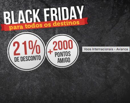 Avianca Brasil anuncia passagens aéreas com 21% de desconto na Black Friday