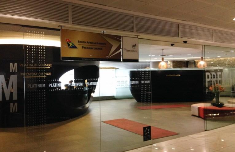 South African Airways Platinum Lounge no aeroporto de Joanesburgo