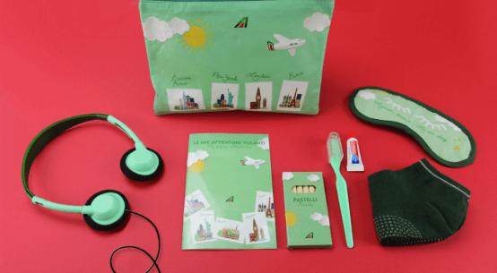 Alitalia lança kit exclusivo para crianças em todos os seus voos intercontinentais