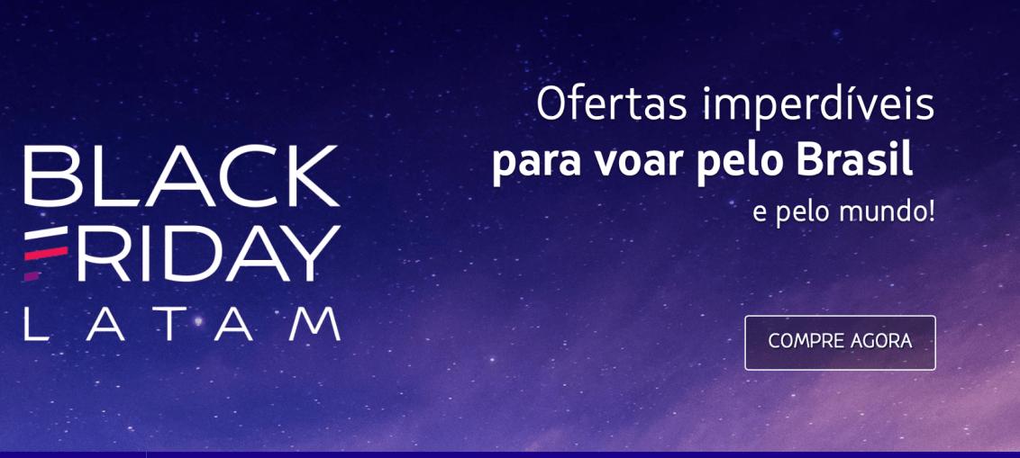 LATAM realiza promoção para destinos nacionais e internacionais para a Black Friday