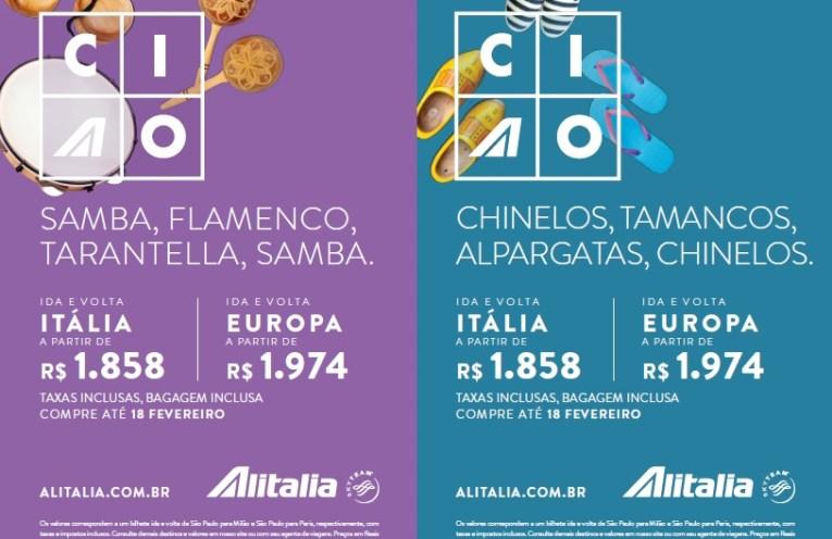 Alitalia lança campanha com promoção de passagens