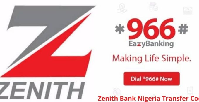 How To Activate Zenith Bank Nigeria USSD Transfer Code