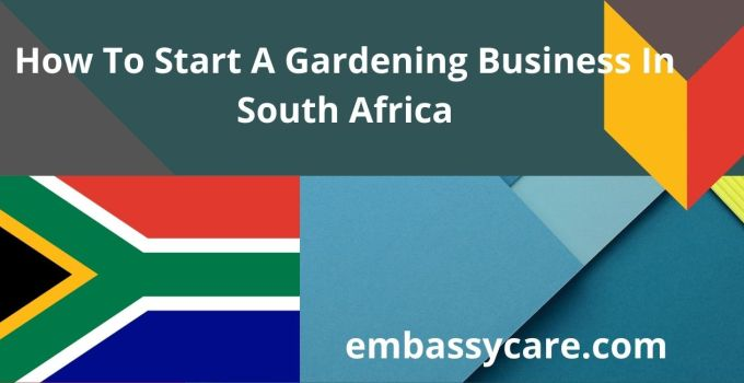 How To Start A Gardening Business In South Africa