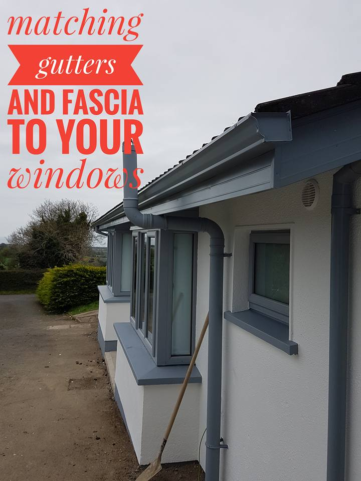 matching your fascia, soffit and gutters to your windows