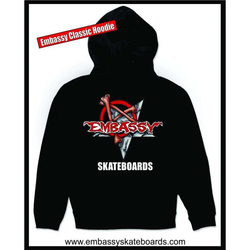 Embassy Skateboards, Munce Logo, Heavy Cotton Hoodie