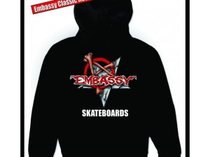 Embassy Skateboards, Munce Logo, Heavy Cotton Hoodie