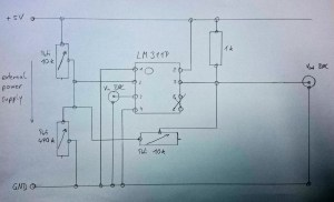 LM311P circuit  connections, wiring and diagram  EmbDev
