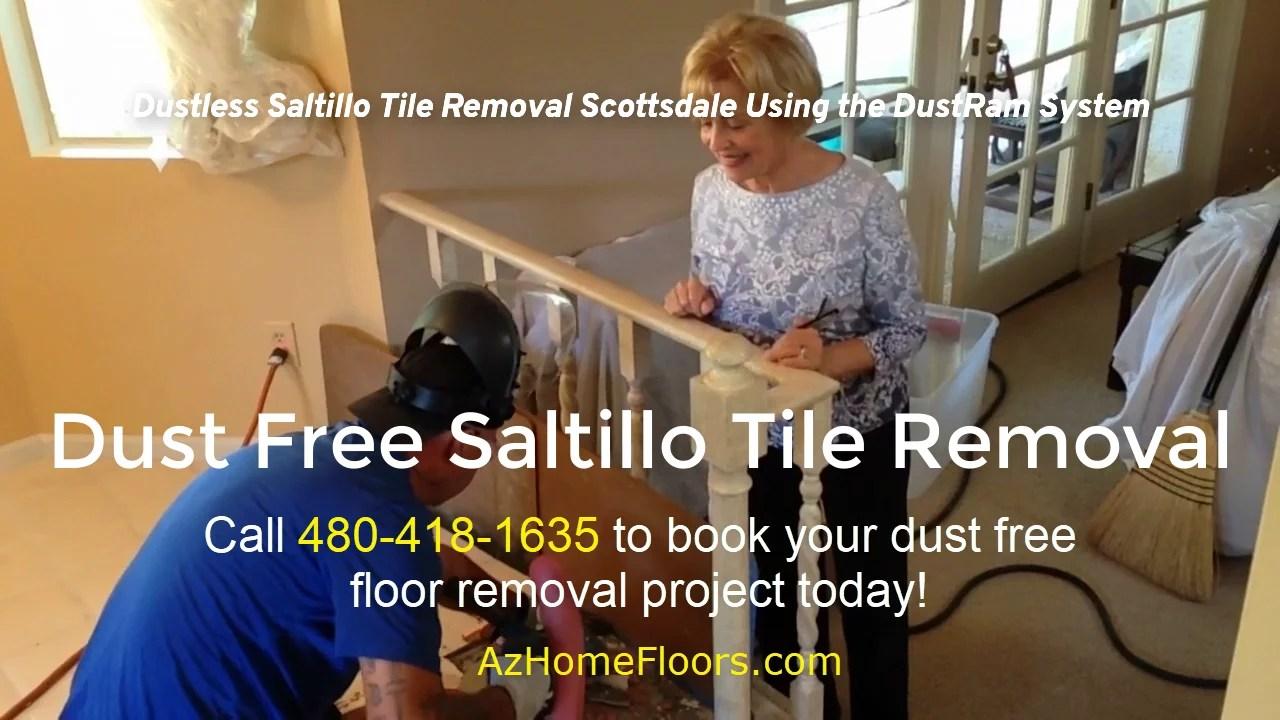 dustless saltillo tile removal using the dustram system