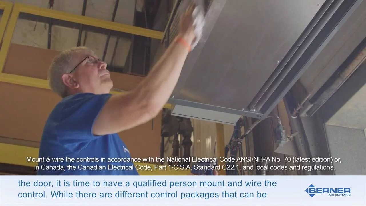 how to install a berner industrial air curtain set air stream