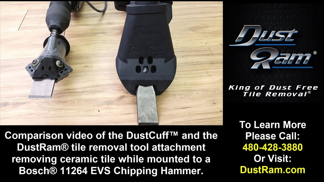dustram vs dustcuff which is faster efficient less problematic during tile removal