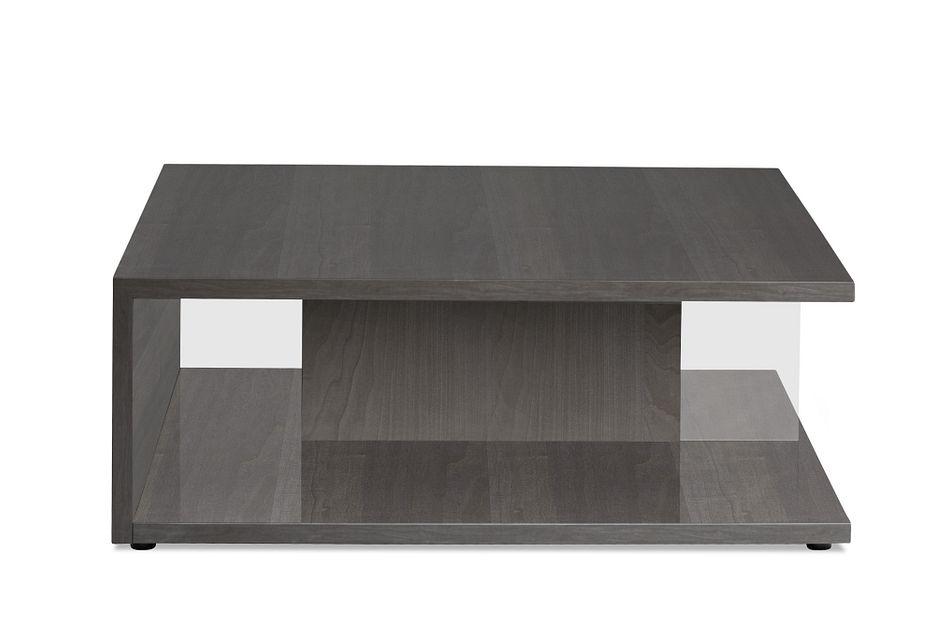 athena dark gray square coffee table