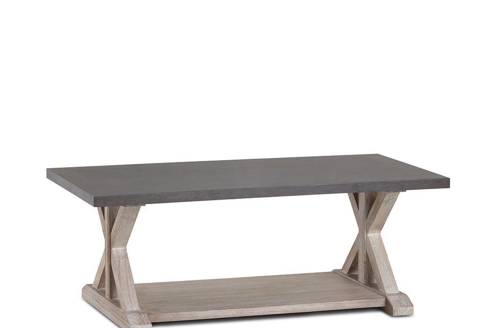 jefferson two tone rectangular coffee table