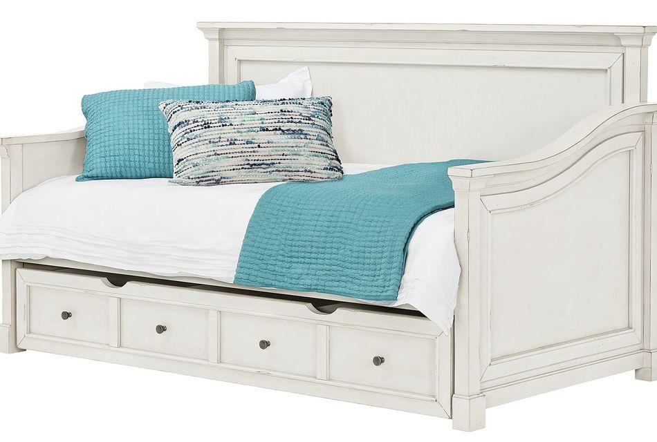 stoney white storage daybed
