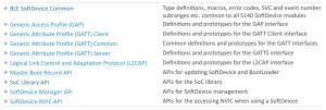 SoftDevice API help tutorial