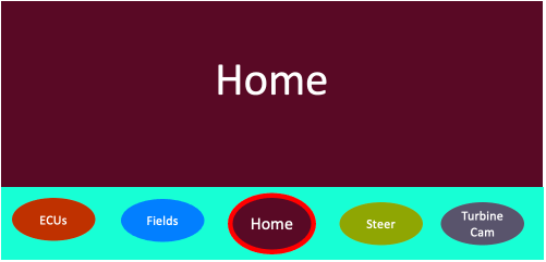 Window manager showing home app with all the relevant information for normal harvesting tasks.