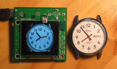 ARM7 based OLED analog clock face - Embedds