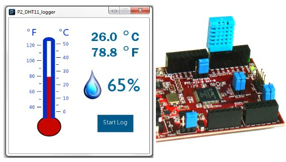 ChipKIT based temperature and humidity logger