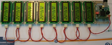 Interfacing multiple LCDs using two wire interface