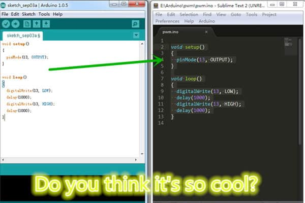 Developing Arduino with Sublime Text - Embedds
