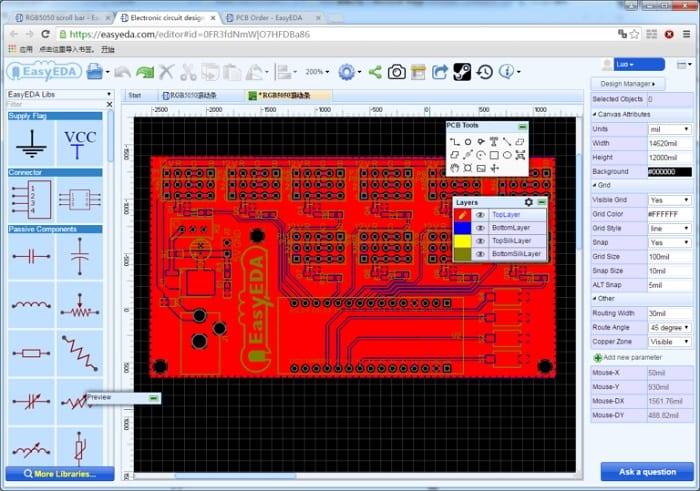 easy_eda_pcb_layout