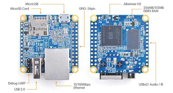 NanoPi Neo – Raspberry Pi squeezed down to 40mm