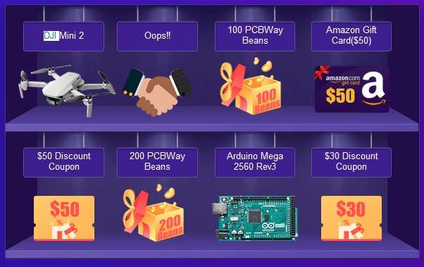 PCBWay lucky draw