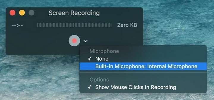 screen recording with QuickTime