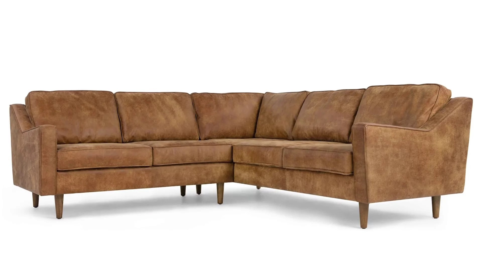 dallas corner sofa outback tan premium leather