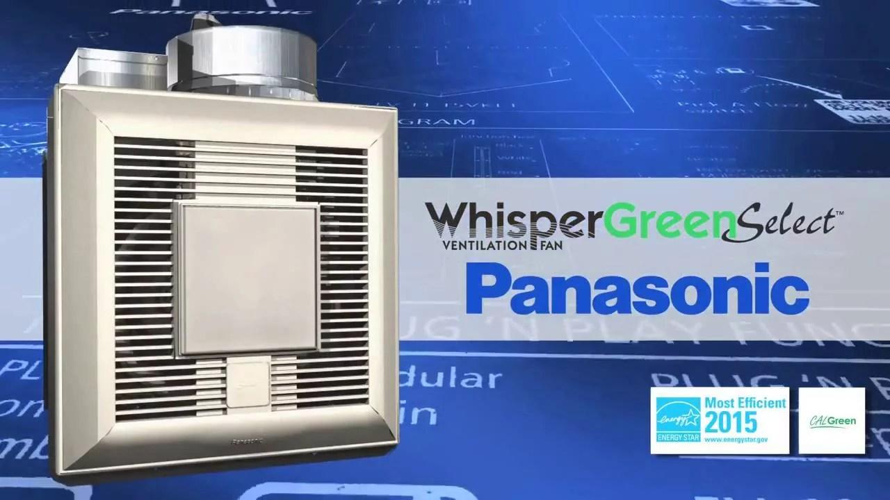 panasonic whispergreen select bathroom fan
