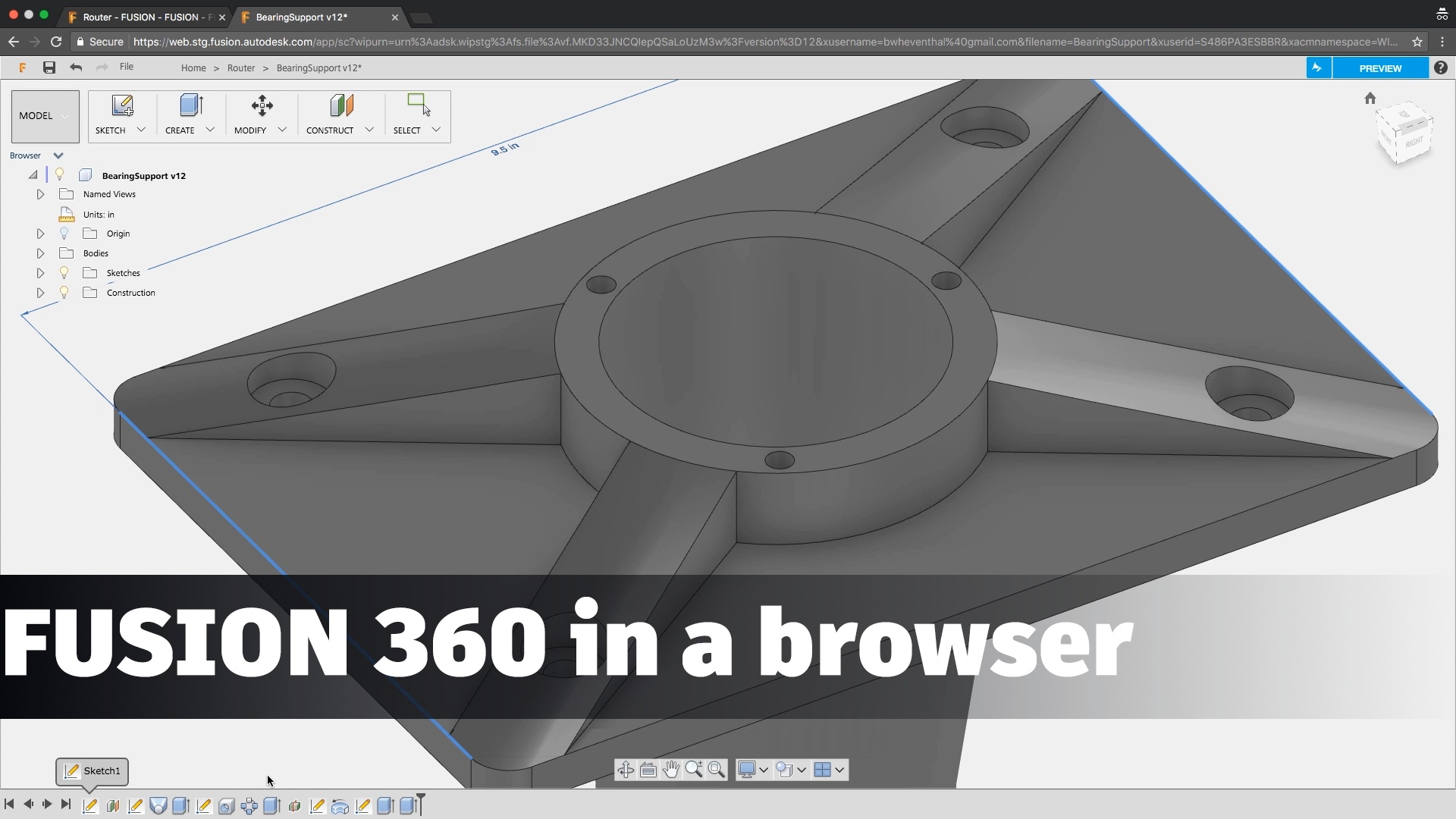 Fusion 360 in a Browser (Preview) - Fusion 360 Blog