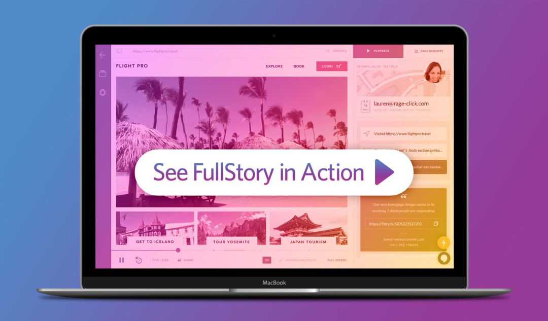 Wistia video thumbnail - FullStory Search and Session Replay in Action
