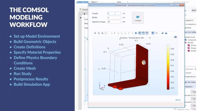 Setting Up and Running a Simulation with COMSOL Multiphysics®