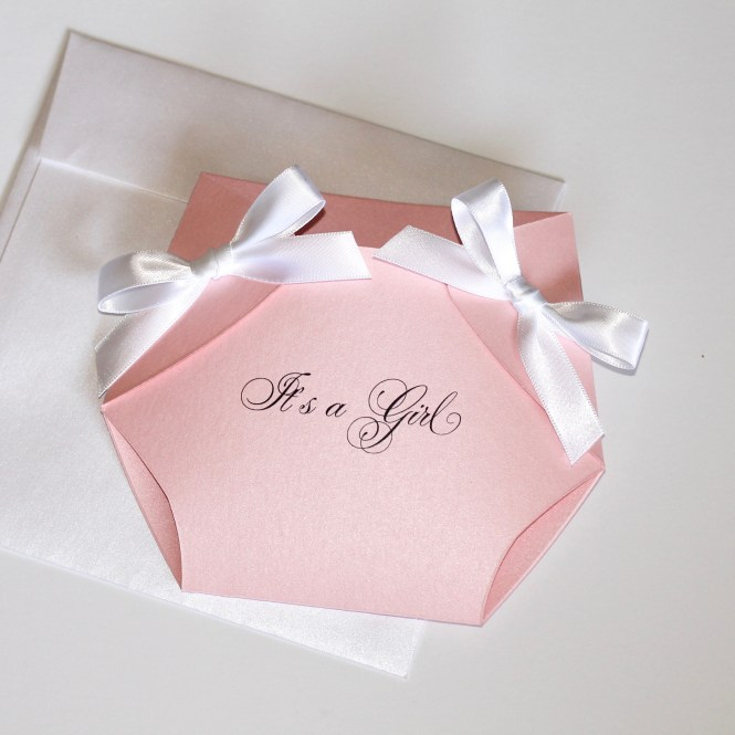 Pink Diaper Baby Shower Invitation Embellished Paperie Llc