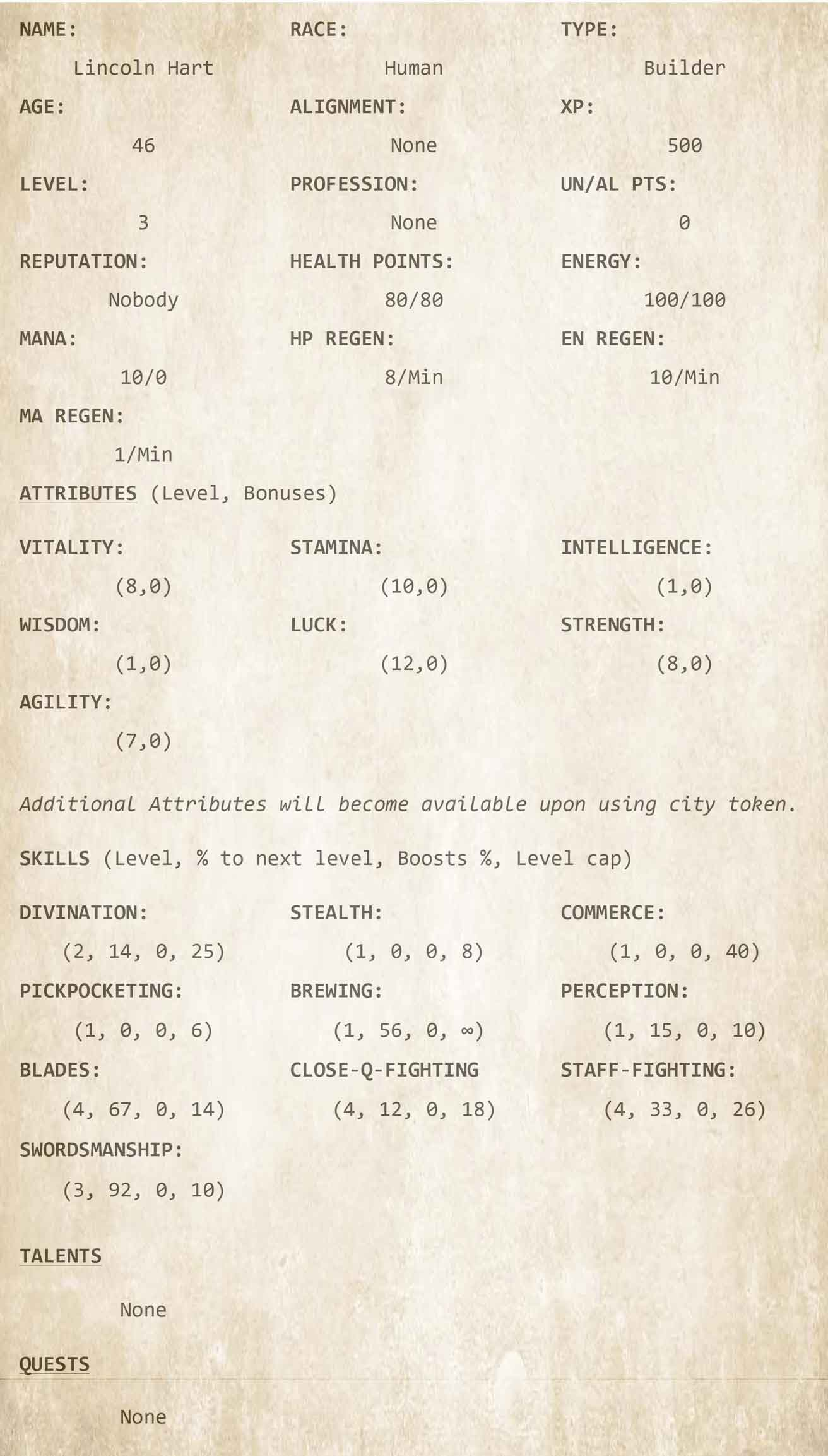 Chapter 4 - Character Sheet 4