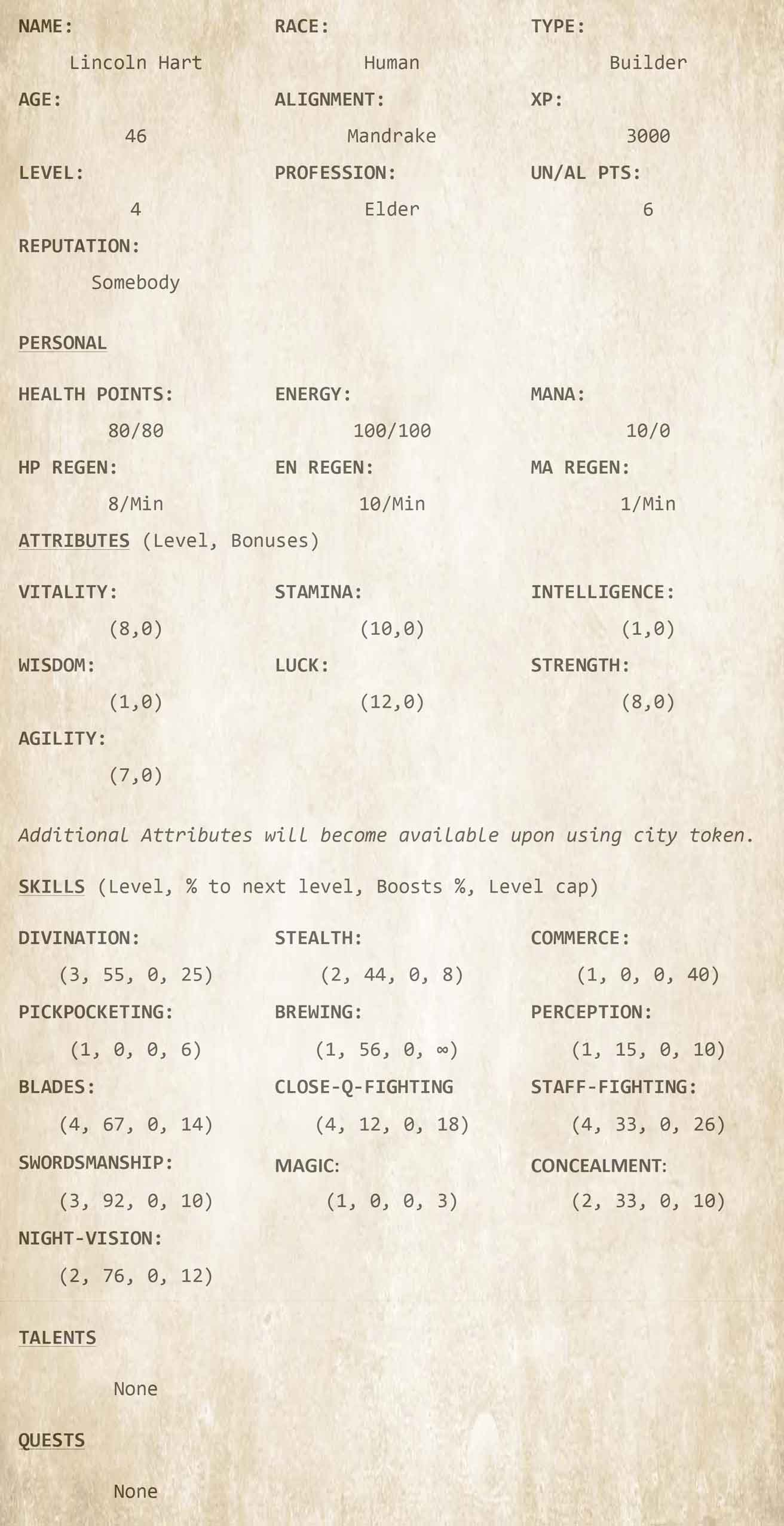 Chapter 12 - Character Sheet 6