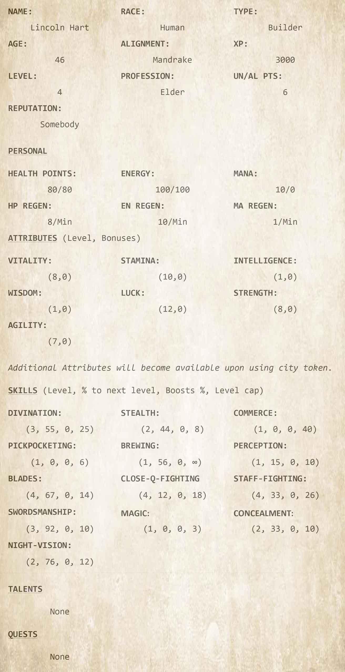 Chapter 12 - Character Sheet 6