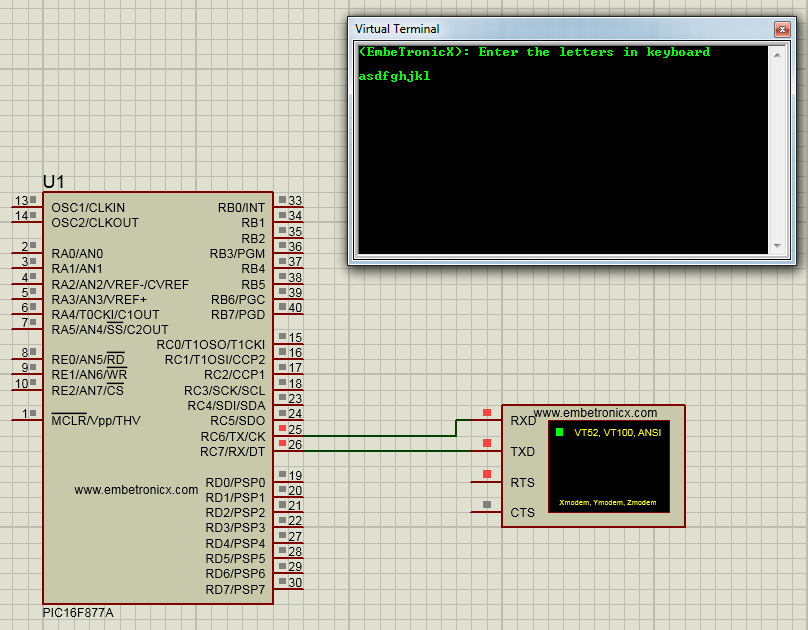 pic16f877a serial communication tutorial
