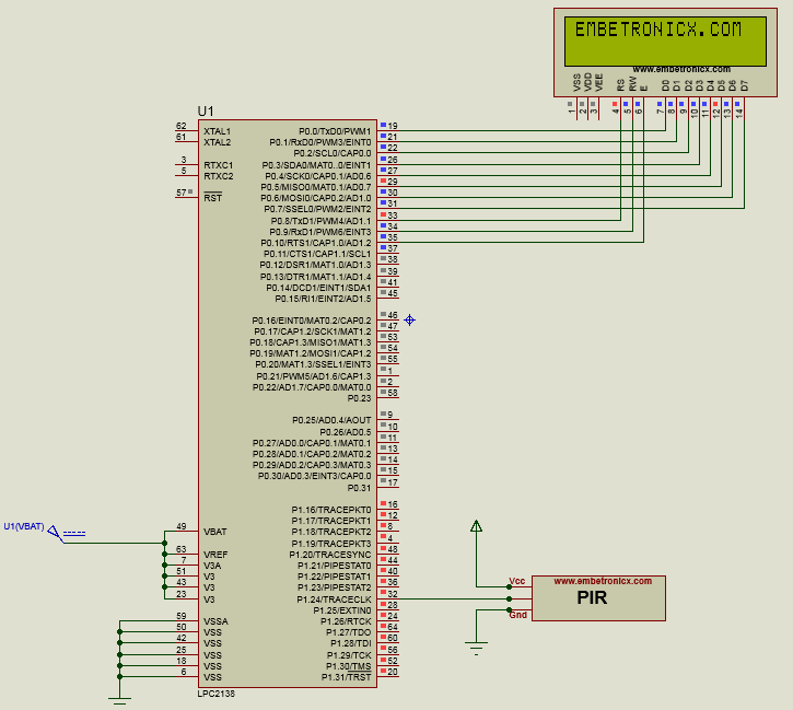 PIR Sensor Interfacing With LPC2148