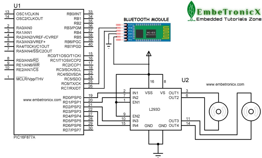 Bluetooth Module Interfacing with PIC16F877A