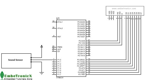 Sound Sensor Interfacing with 8051