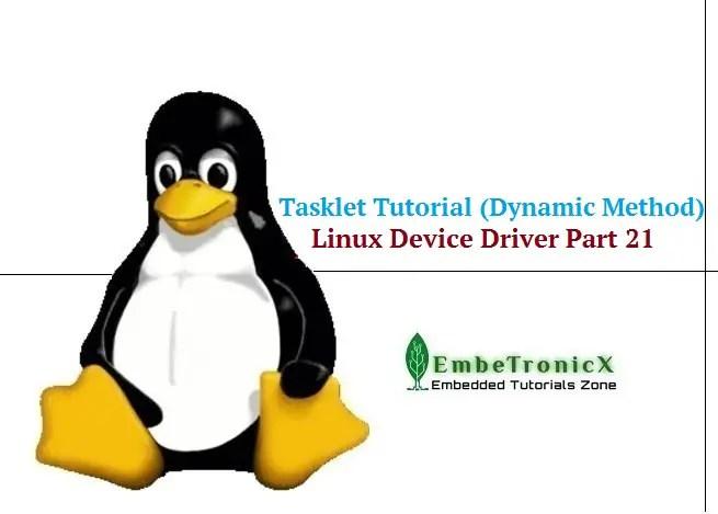 Tasklets in Linux Driver