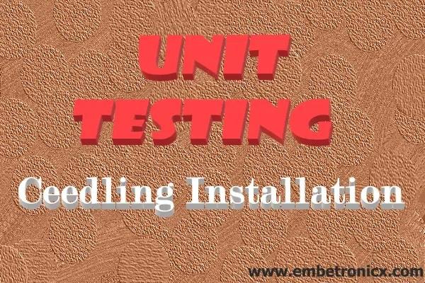 unit test in c - ceedling installation
