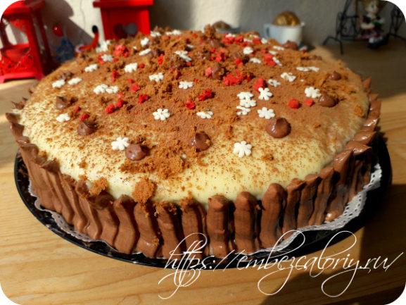 Торт бисквитный с грушами | Рецепт с фото