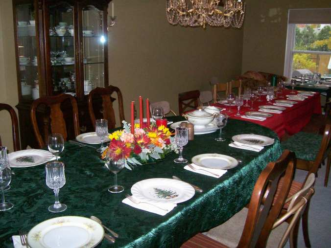 Thanksgiving table - tradition